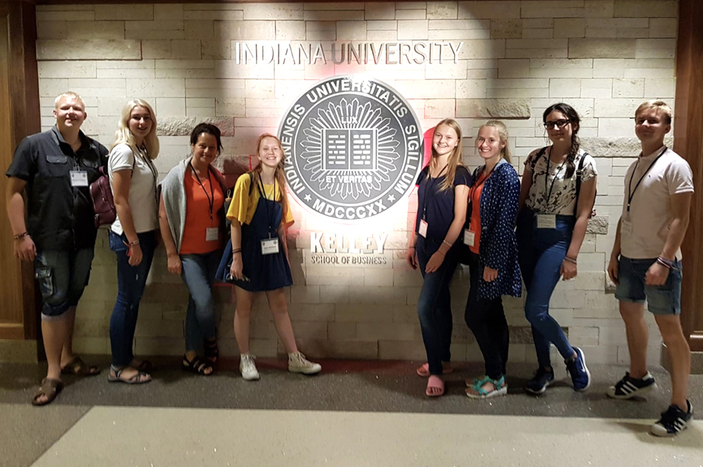 Youth career development program participants at the University of Indiana.