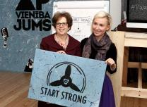 Ambassador Nancy Bikoff Pettit and Program director Solvita Jirgensone at the Start Strong Center opening cremony.