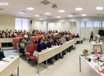 Uzņēmējdarbības seminārs Viļņas universitātē Lietuvā.