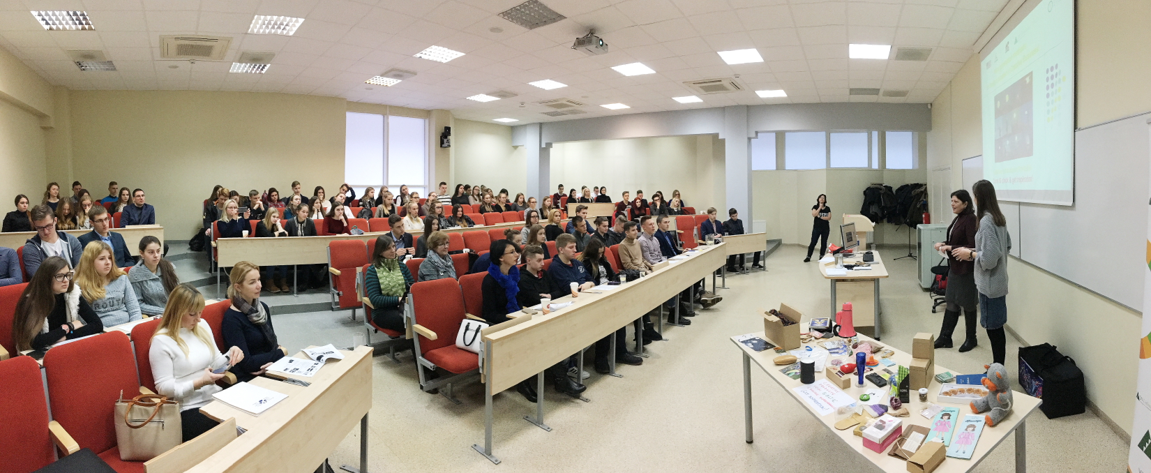 Entrepreneurship seminar at the University Vilnius (Lithuania)